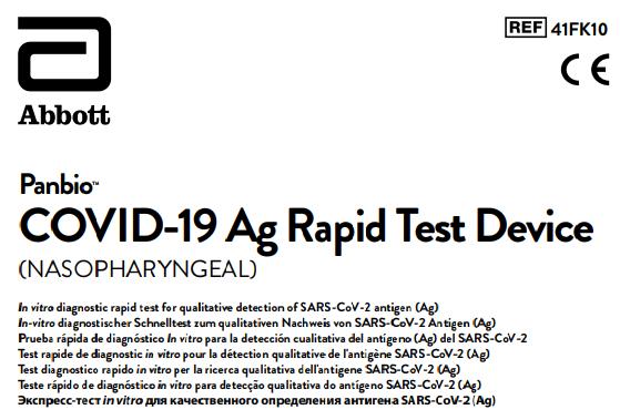 instrucciones del test de antígenos ABOTT