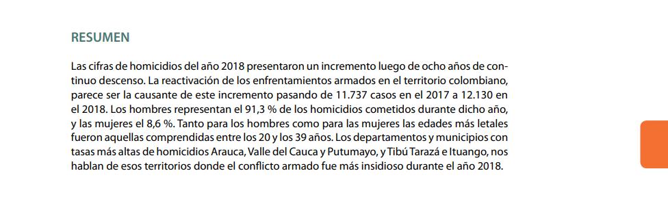 Informe Forensis 2018