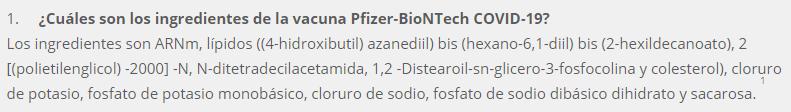 pfizer componentes