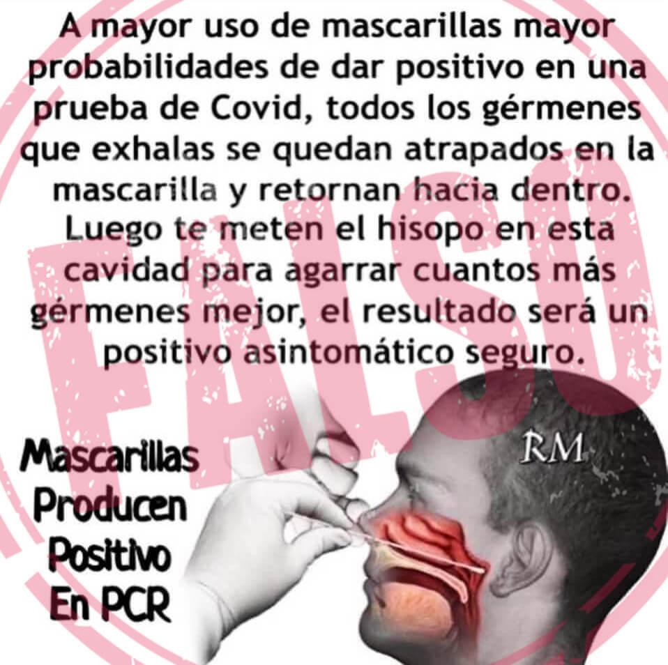 Falso mascarillas positivo PCR