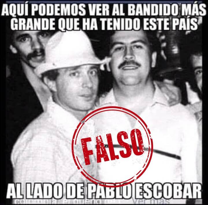 Montaje de Uribe y Pablo Escobar