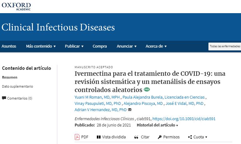 Estudio Clinical Infectious disease