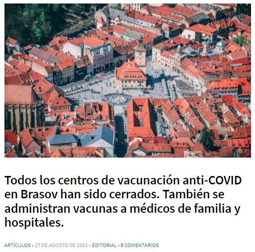 Pantallazo de la noticia original en español