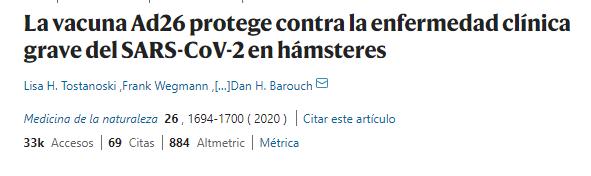 estudio vacuna COVID-19 en hamsters