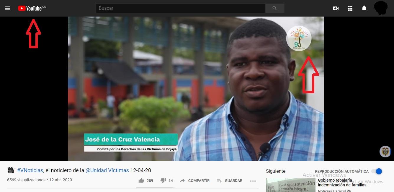 pantallazo Youtube