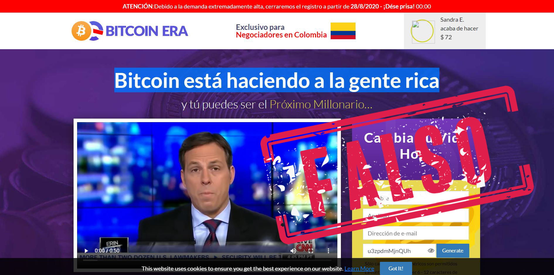 Bitcoin Era exclusivo para colombianos