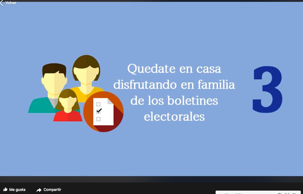Fotograma de video falso sobre segunda vuelta presidencial