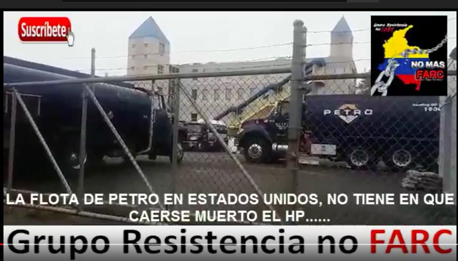 Fotograma de video falso sobre camiones de Petro en Estados Unidos