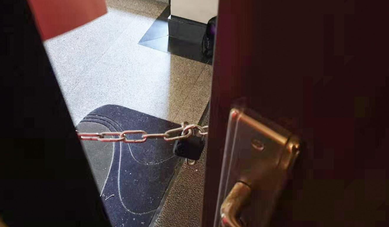 Puerta obstruida