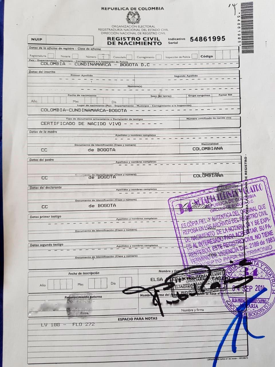 Registro civil real