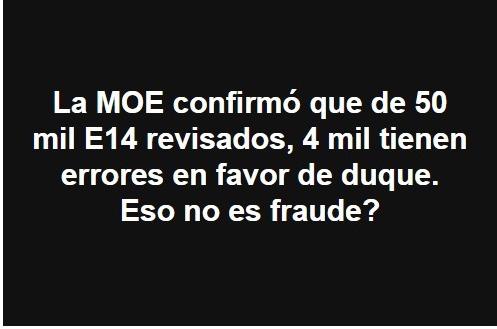 Mensaje falso sobre formularios E-14 en las elecciones presidenciales