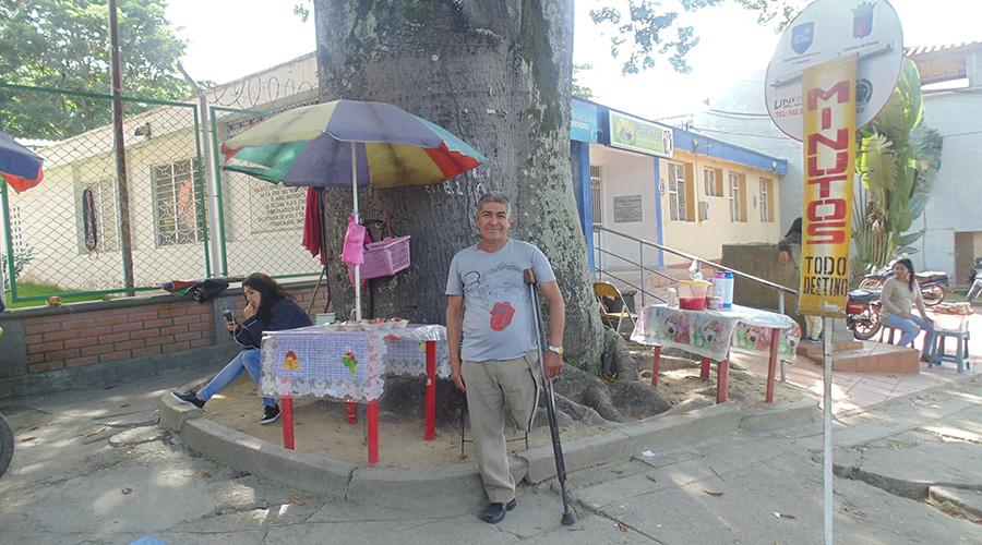 Jesús Salazar, víctima de mina antipersona