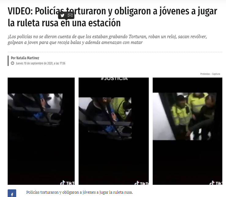 Nota publicada por publimetro.co